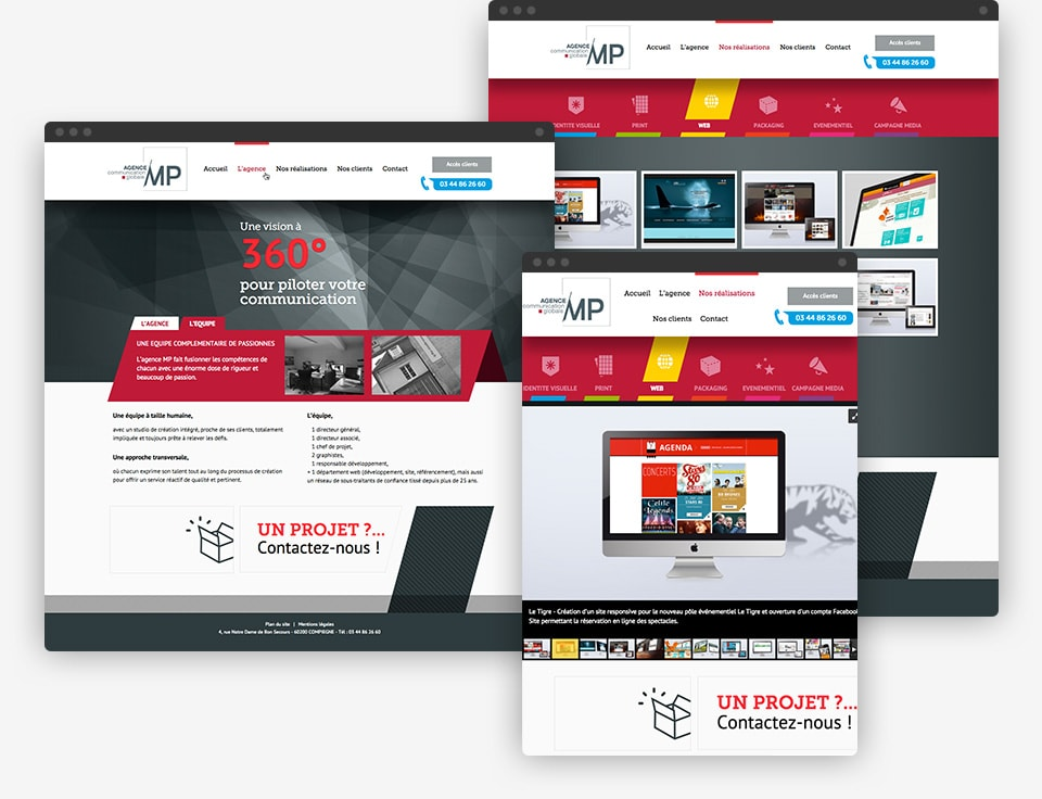 Agence MP website preview