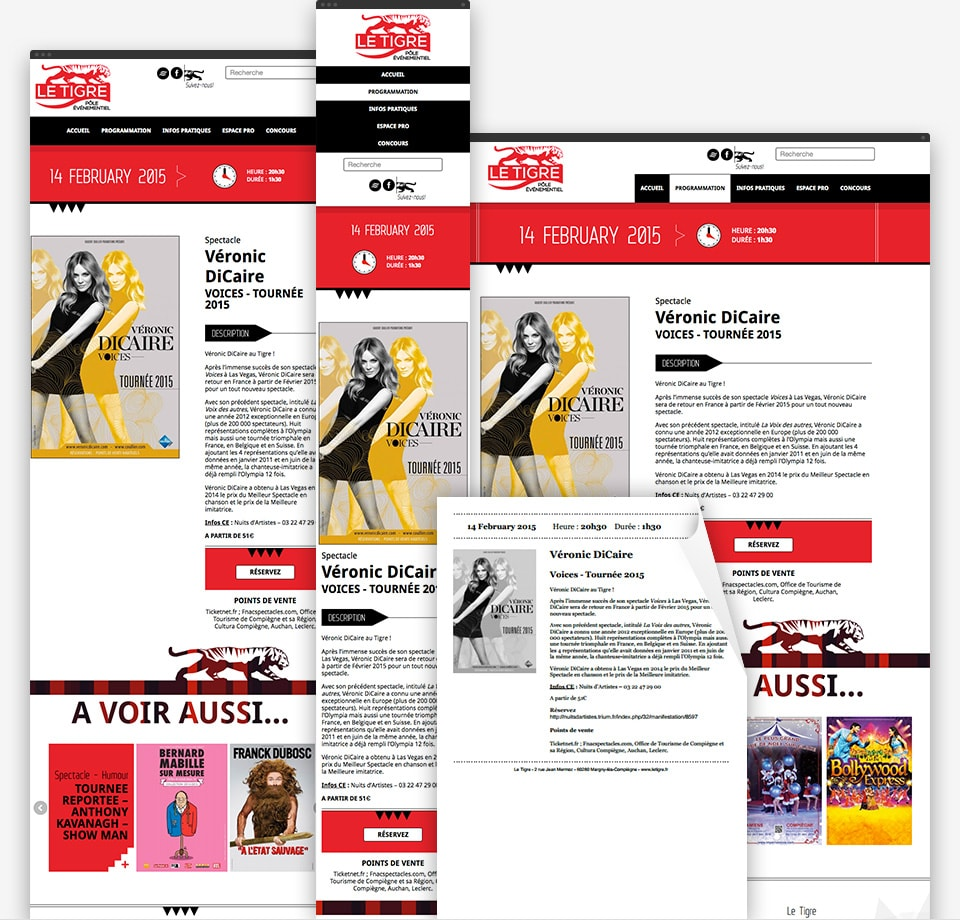 Le Tigre responsive page example