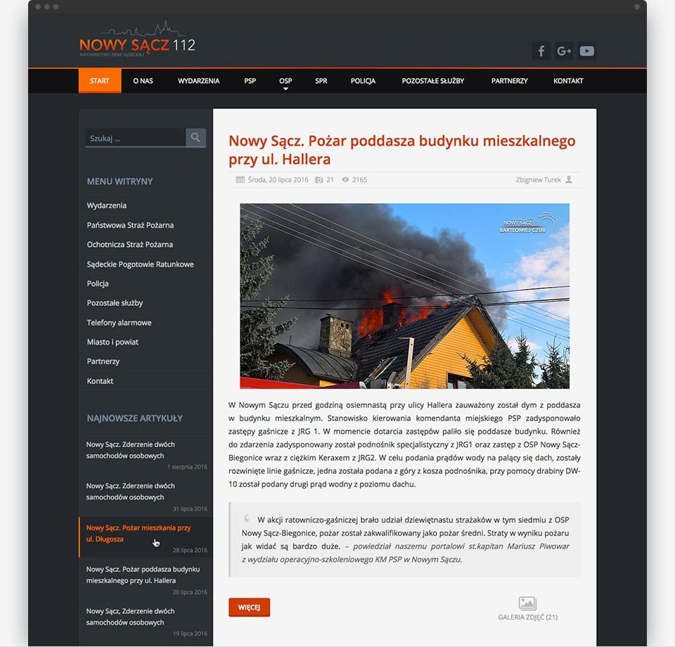 Nowy Sącz 112 - home page