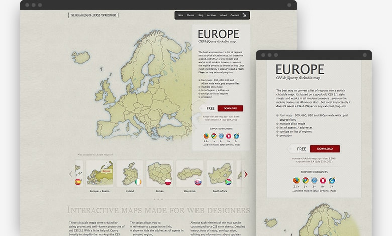 CSS & jQuery clickable maps - June 2011